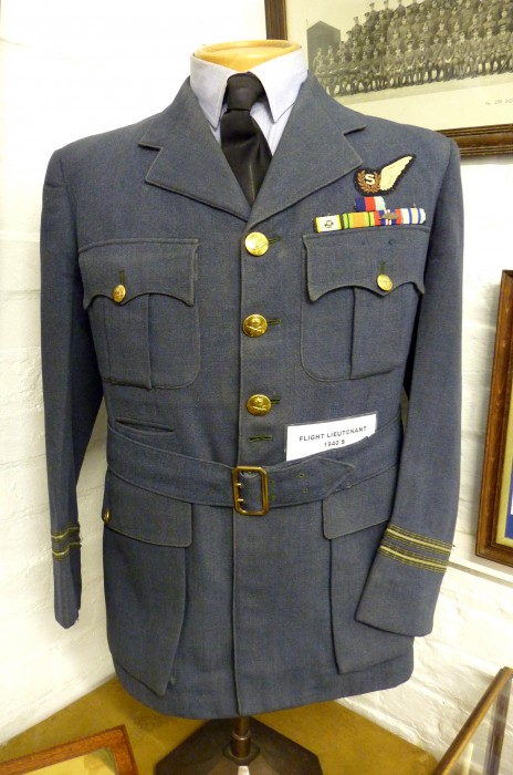Green royal air force uniform