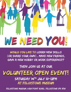 Volunteer Open Event @ Felixstowe Museum | England | United Kingdom
